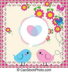 Couple of birds in love