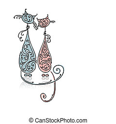 Couple of cats for your design