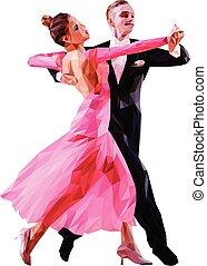 couple of dancers ballroom dancing