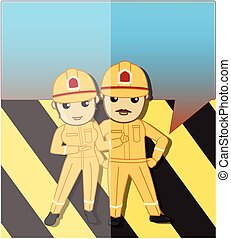 Couple of Firefighter Characters