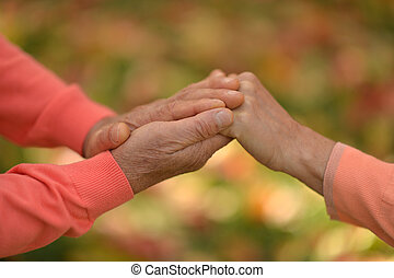 Couple of hands together