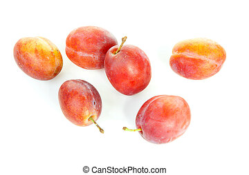 couple of healthy plums