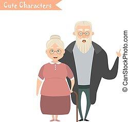 Lovely elderly couple