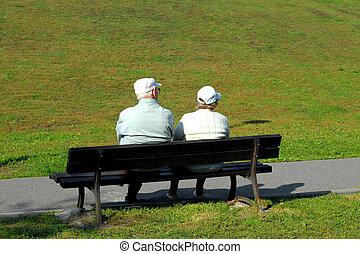 Couple of seniors