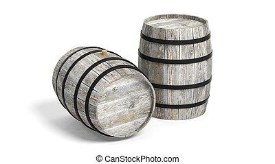 Couple of wine barrels