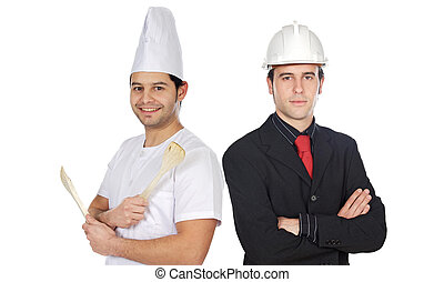 Couple of workers