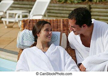 Couple on a romantic getaway