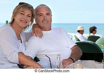 Couple on a terrace
