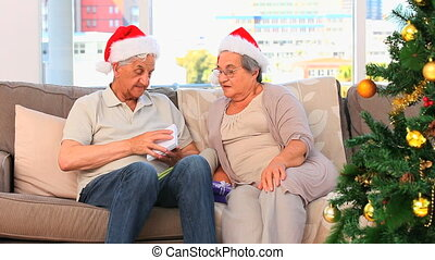 Couple on Christmas day
