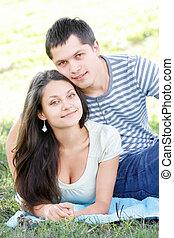 Couple on ground