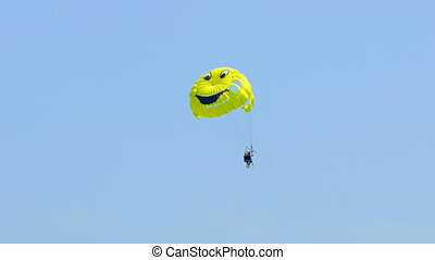 couple on parasailing