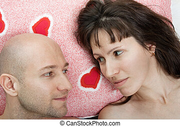 Couple on pillow