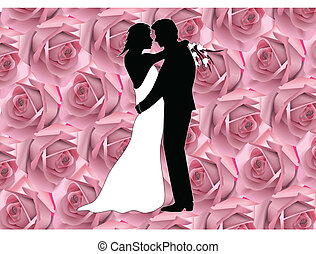 couple on roses