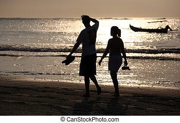 Couple on sunset