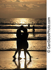 Couple on sunset.
