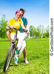 Couple on the bike