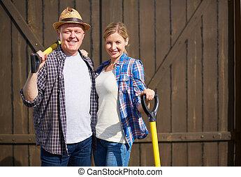 Couple on the farm