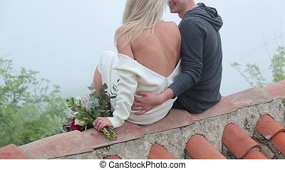 Couple on the red roof