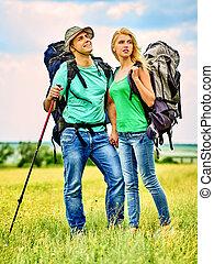 Couple on travel.