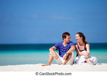 Couple on tropical beach