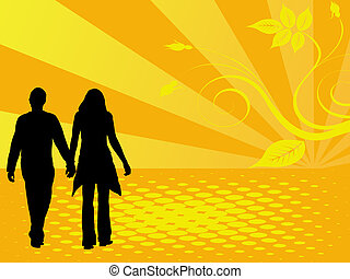 walk - couple on walk