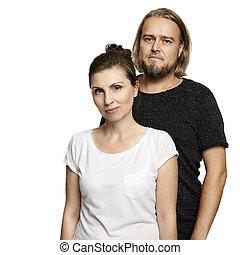 Couple on White Background