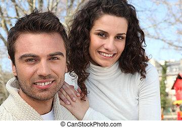 couple, parc
