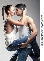 couple, passionné, hétérosexuel