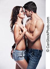 couple, passionné, heureux
