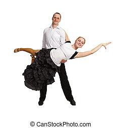Couple performing ballroom dance