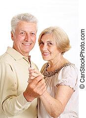 couple, personnes agées, charmer