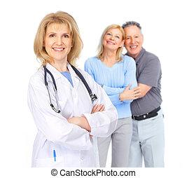 couple, personnes agées, docteur