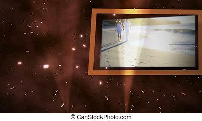 couple, plage, vidéos