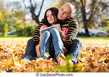 couple, planification, ensemble, heureux