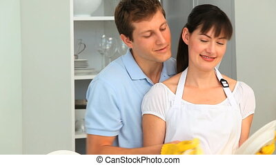 couple, plats, aimer