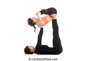 couple, pratique, yogi