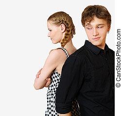 couple, problèmes, jeune