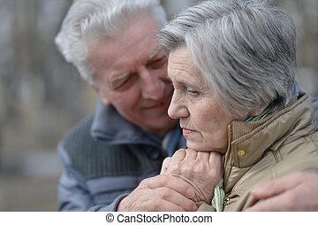 couple, promenade