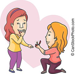 Couple Propose Girls Lesbian