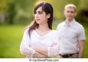 Couple quarrel