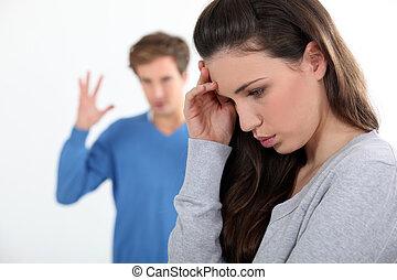 couple quarreling