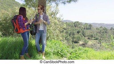 couple, quoique, repos, randonnée