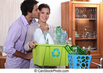couple, recyclage