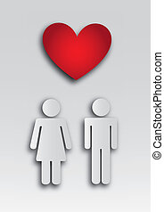 couple relationship over gray background vector illustration