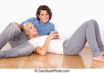 couple, reposer ensemble