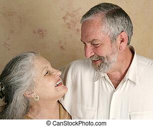 couple, rire