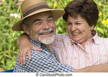 couple, romantique, ii, personne agee