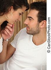 couple, romantique, scène
