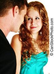 couple, séduisant, jeune