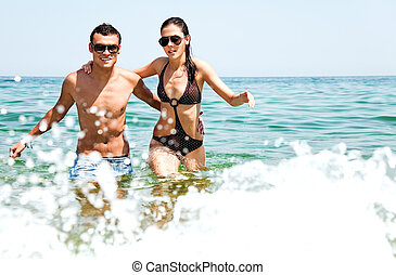 Couple sea love